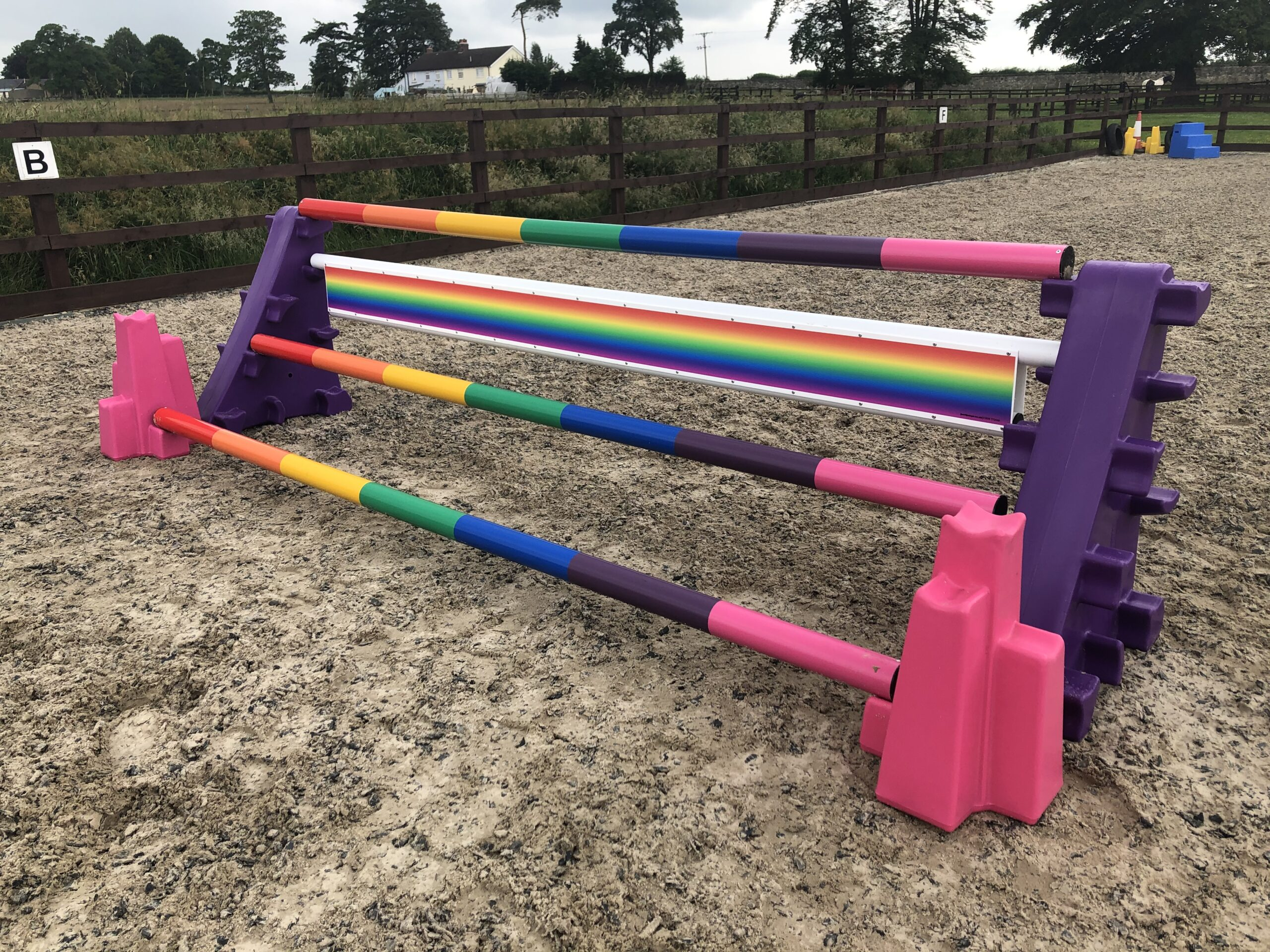 JSW Equestrian Launches Pick and Mix Rainbow Jump Range to Support NHS  charities | Everything Horse
